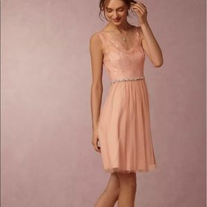 Hitherto Belted lace dress LINA cocktail wedding